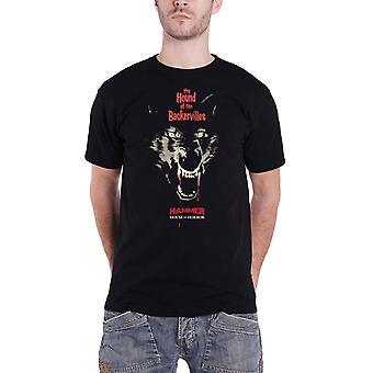 Hammer Horror T Shirt Hound Of The Baskervilles new Official Mens Black