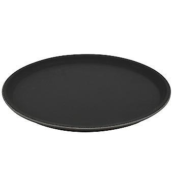 "Argon Tableware Black Non Slip Serve Tray - 28cm (11"") - Pack of 6"
