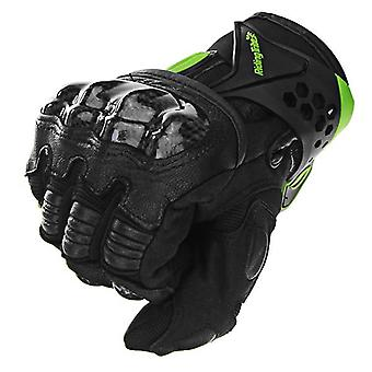Écran tactile Fibre de carbone Gants en peau de mouton Moto Racing Full Finger Gloves