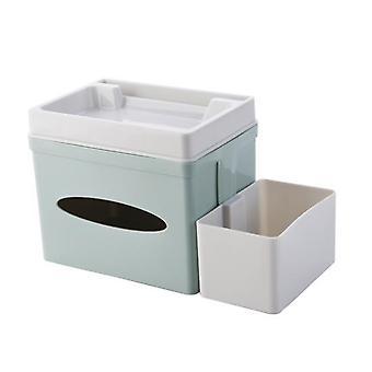 Desktop Storage Organizer, Tissue Box, Useful Multifunctional Household for Kitchen Bedroom Office