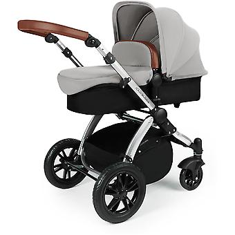 Ickle Bubba Stomp v3 All In One Travel System Galaxy & Isofix Base Silver