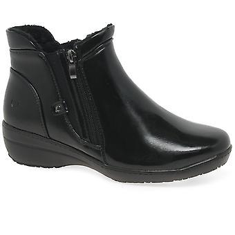 Heavenly Feet Venice 2 Womens Twin Zip Wedge Heel Ankle Boots