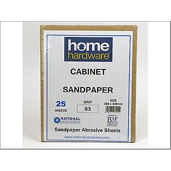Home DIY (Paint Brushes) Cabinet Paper Quire Grade F1 x 25 004427