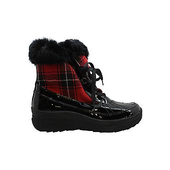 Anne Klein Womens Gayla2 Round Toe Ankle Cold Weather Boots
