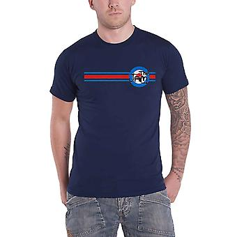 The Jam T Shirt Target Stripe Band Logo new Official Mens Navy Blue
