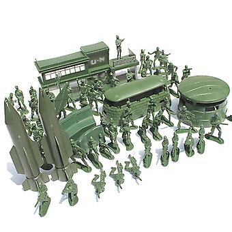 Flameer Army Base Playset Toy 4cm-5cm Soldier Army Men Action Figures Kids Toy