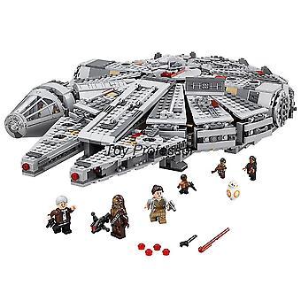 Compatible Lepining Star Wars Millennium, Falcon Spacecraft Building Blocks,