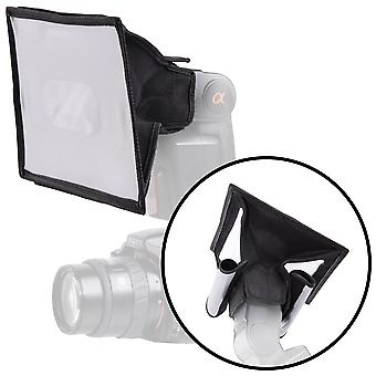 Movo mp-lb3 15x20cm speedlight fabric flash softbox diffuser with roll-up windows for fill light/bou