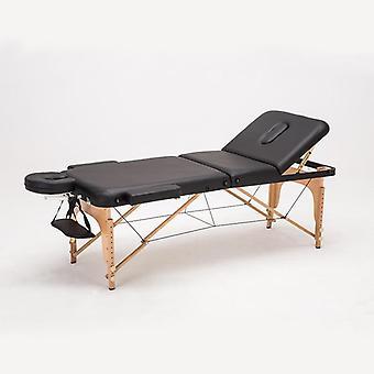 Regulowany skórzany stół do masażu, przenośne składane łóżko do masażu salonu