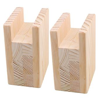 2xWood 4InchLift Height Furniture Table Risers Bed Sofa Riser 4x10CM Groove