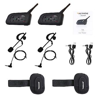 Wireless bluetooth intercom motorcycle snowmobile headset full waterproof with fm