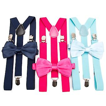 Suspenders Bow Tie Set Men Fashion Suspensorio