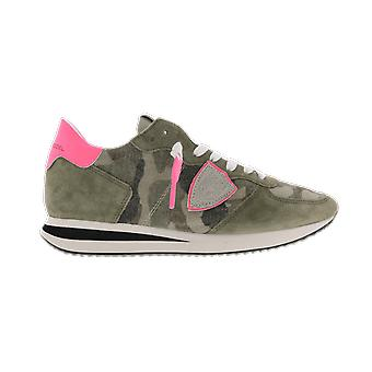 Philippe Model Trpx Low Womancamouflage Neon_ Green A11ETZLDCN01CAMOUFLAGE NEON_VERT shoe