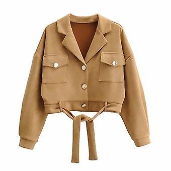 Chaqueta corta de ante para mujer chaqueta corta