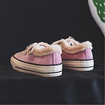 Nuevas mujeres invierno botines de nieve cómodas de felpa gruesa mantener zapatillas calientes