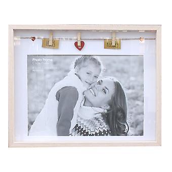 Box A4 Photo Frame - Hugs And Kisses