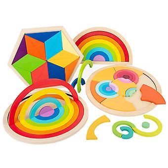 Rainbow blocks puzzle