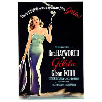 Gilda-elokuvan juliste tulosta (27 x 40)