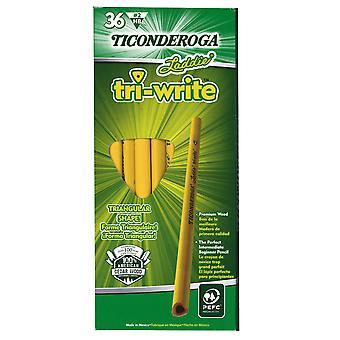 Laddie Tri-Write Intermediate Size No. 2 Pencils Without Eraser, 36/Box