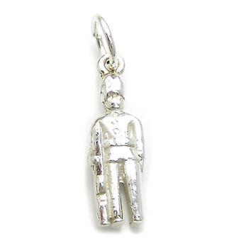 Royal Guardsman Sterling Silver Charm .925 X 1 London Royals Charms - 107