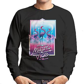 Miami Vice 3 Flamingos Men's Sweatshirt