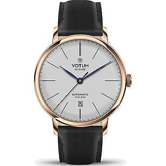 VOTUM - Reloj Unisex - VINTAGE AUTOMATIC - VINTAGE - V08.20.11.01 - correa de cuero - negro