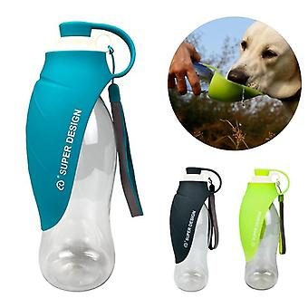 Portable Pet Dog Water Bottle Soft Silicone Leaf Design