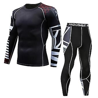 Compression Sweat Quick Drying Long Johns Fitness Bodybuilding Shapers