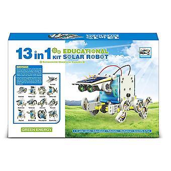 13 في 1 التعليمية الشمسية الروبوت كيت- سيارة، قارب، كتل الحيوان، العلوم