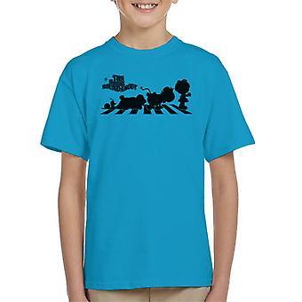De magiska rondellkaraktärerna silhuett Kid's T-Shirt