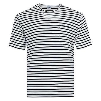 NN07 Kurt Stripe Sustainable Tencel Blend T-Shirt - Navy
