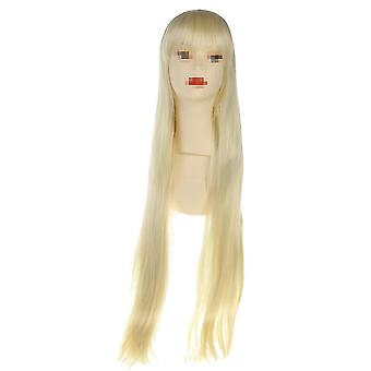 Cosplay Anime Perruque Golden Long Cheveux droits