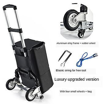 Hand Truck Dolly Shopping Bag Portable Aluminum Dolly Luggage Cart
