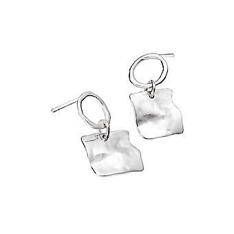 Sterling Silver Earrings - Origins Circle + Square