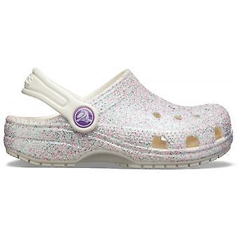 Crocs 205441 Klassinen Glitter Kids Clogs Oyster