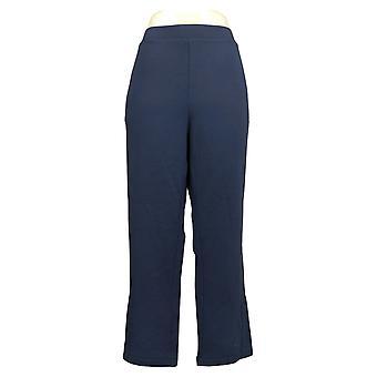 Lisa Rinna Collectie Petite Leggings Geborsteld Blauw Chino A388451