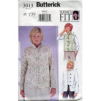 Butterick نمط الخياطة 3013 يفتقد سترة سترة حجم 38-43 D-F Uncut