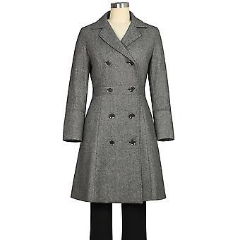 Chic Star Wool Herringbone Coat In Dark Gray
