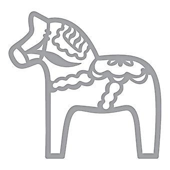 Spellbinders Shapeabilities - Dala Horse Etched Dies Folk Art Collection by Lene Lok