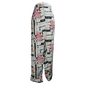 Tolani Women's Plus Collection Printed Pajama Pant Pink A390127