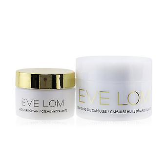 Begin & end ornament travel set: cleansing oil capsules 7x1.25ml/0.04oz + moisture cream 8ml/0.26oz 260828 2pcs