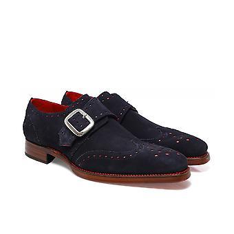 Jeffery-West Suede Dexter Edge Monk Shoes