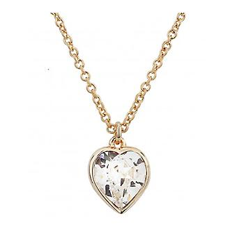 Traveller Heart Pendant With Chain Gold Plated With Crystals From Swarovski - 157257 - 581