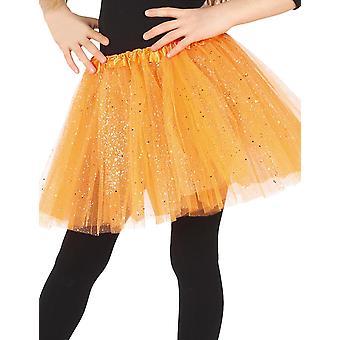 Meisje pailletten oranje tutu