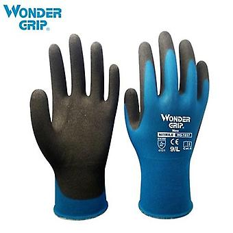Wonder Grip Gardening Gloves Abrasion-proof 18-Gauge Nylon Liner & Nitrile Coating Universal Work Gloves