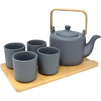 סט תה עם 4 כוסות