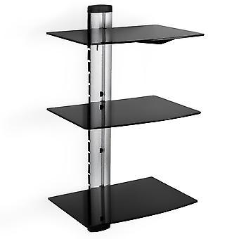tectake veggstativ med 3 hyller for DVD-spiller og mottakermodell 2