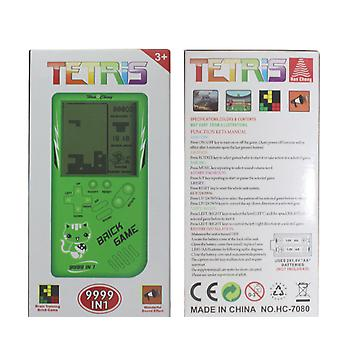 Retro Childhood Tetris Handheld Game Player Green