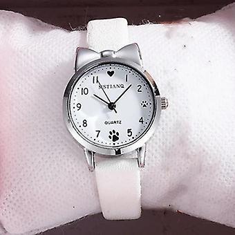 Casual Watch, Cute Leather Strap, Quartz Wristwatch, Student Clock