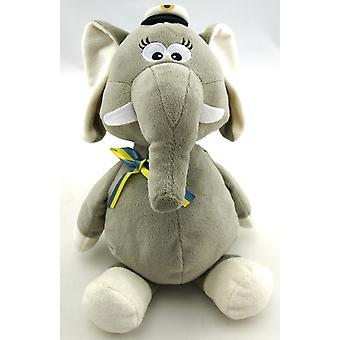 Opiskelija elefantti harmaa nauhalla H34 cm